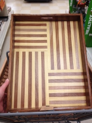 I love the lines of this tray. Was thinking about DIYing one myself, but this is almost too good to pass up!