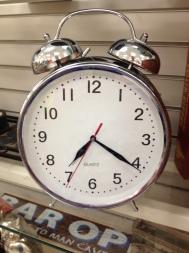 overside alarm clock, great for a kids room.