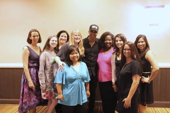 Some of the bloggers meeting up with Shemar