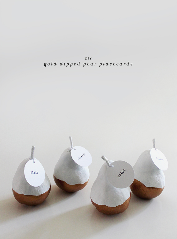 gold-dipped-pear-placecards-diy-