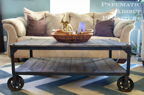 DIY Industrial Coffee Table 11