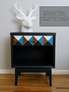 geometric nightstand p wd 1